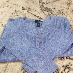 Karen Scott XS periwinkle sweater